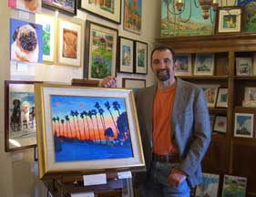 Artist RD Riccoboni of Beacon Artworks in Old Town San Diego's Fiesta de Reyes