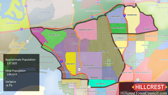 San Diego Neighborhoods Map