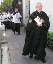 2005 Palm Sunday procession around All Saints' Episcopal Church (Hillcrest's oldest