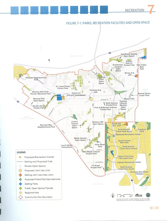 Draft Uptown Plan, Open Space Map, See Attachment 1