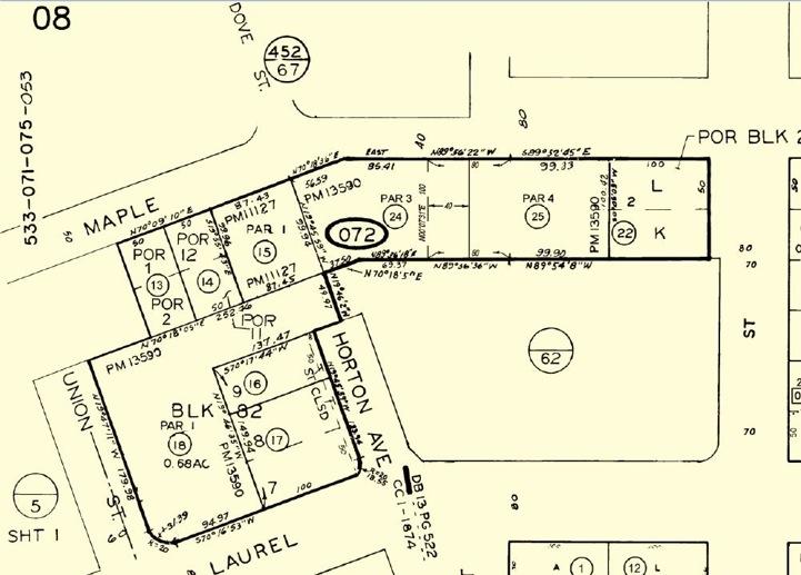 Parcel Map, 2513 Union Street